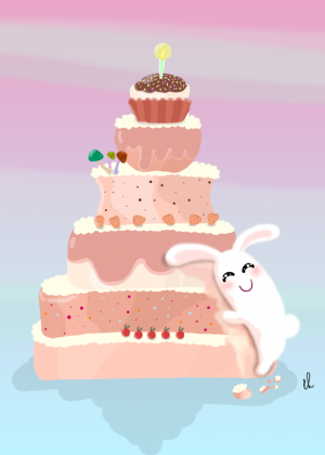 Wallpaper Big Cake